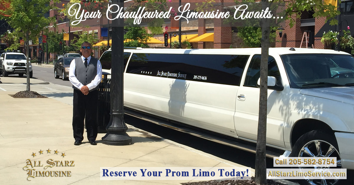 Your Chauffeured Limousine Awaits! Reserve your Limo today! Call 205-582-8754